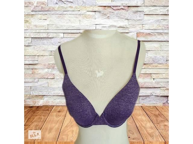 купить бу Victoria's secret bra uplift semi demi 34C бюстгальтер на кісточках фіолетовий меланж в Чернігові