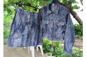 Villa happ крутой джинсовый костюм на 158 см. xxs (Дания)