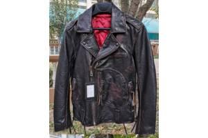 Вінтажна шкіряна куртка