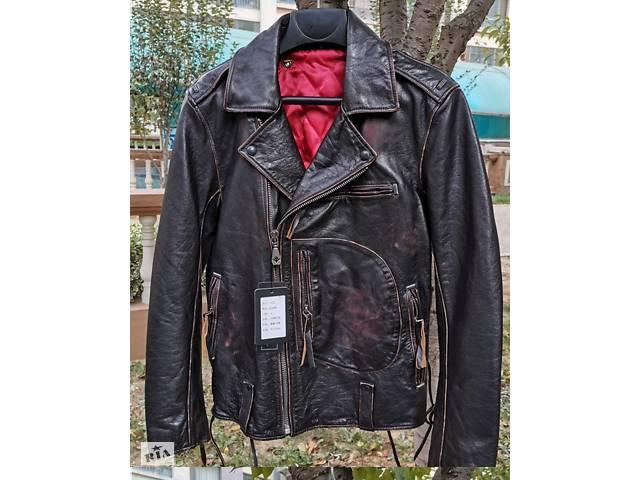 купить бу Вінтажна шкіряна куртка в Харкові