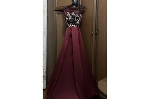 Выпускное платье (Бархатный кружево + атлас)