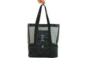 Интересная пляжная сумка Traum 7011-30, черная