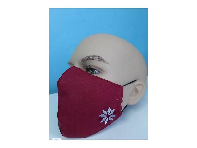 продам Защитная маска льняная с вышивкой (1) бу в Чернигове