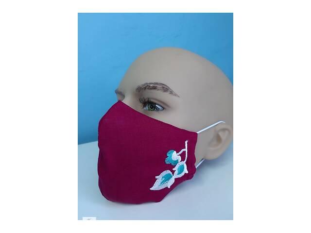 продам Защитная маска льняная с вышивкой (2) бу в Чернигове