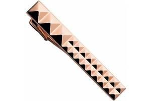 Зажим для галстука Dupont Diamond Headsзалотистый