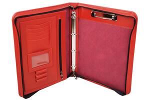 Женская папка из натуральной кожи Portfolio Port1004 красная