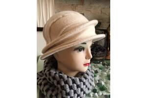 Женская шляпка из мягкой валяной шерсти, TM Rabionek, цвет бежевый,тон 452,  размер 55-56