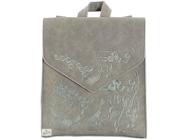 Женская сумка-рюкзак с вышивкой Traum 7223-07, серый- объявление о продаже  в Киеве