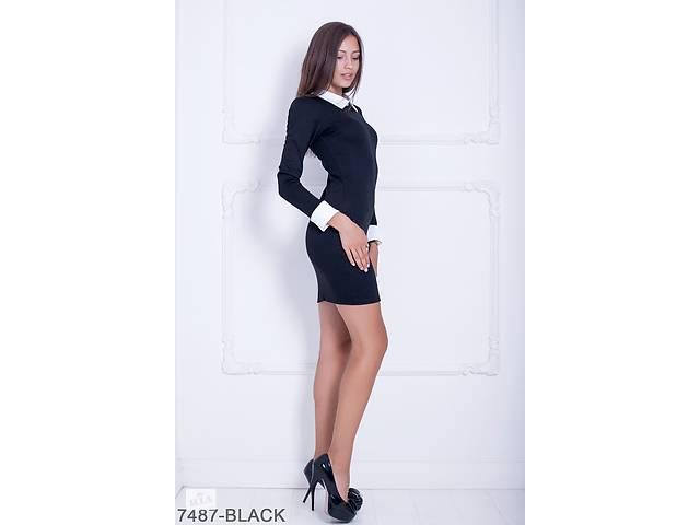 купить бу Женское платье Подіум Columbine 7487-BLACK L Черный в Одессе