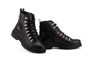 Женские ботинки кожаные зимние черные Carlo Pachini 4-1498/20-15