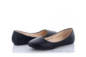 Женские черные балетки розмер 35 36