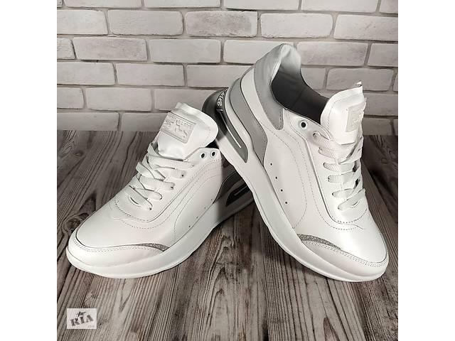 Женские кожаные кроссовки 00641- объявление о продаже  в Мелитополе