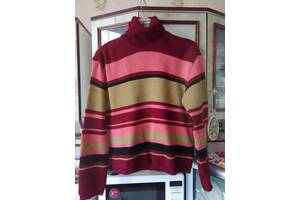 Жіночий светр в різнокольорову смужку новий, розмір 48-50