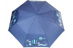 Женский зонт полуавтомат H Due O синий