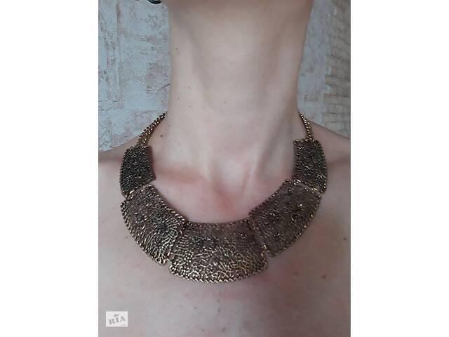 купить бу золотистое ожерелье в Мукачево