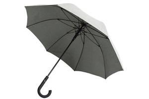 Зонт-трость полуавтомат мужской Bergamo Line art status серый