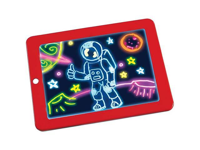 бу 3D доска для рисования светом Lesko Magic Drawing Pad HL-108 Красный (3750-10692a) в Киеве