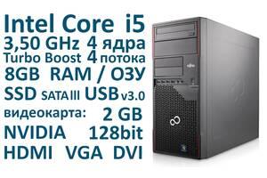8 ГБ ОЗУ, Intel Core i5 4 ядра 3,50 GHz, SSD, Системный блок Fujitsu из Германии