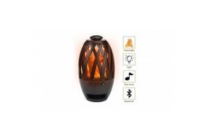 Беспроводная Bluetooth Колонка Камин SUNROZ Flame Atmosphere BTS-596 LED Портативная Black (690119382-DP)