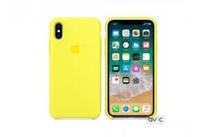 Чехол для Apple iPhone XS Max Silicone Case Yellow Copy
