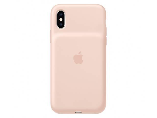 купить бу Чехол для Apple iPhone XS Smart Battery Case Pink Sand (MVQP2) в Киеве