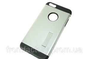 Чехол на IPhone 6 plus/6S plus (задняя крышка с подставкой/серебро)