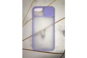 Чехол со слайд-камерой для Apple iPhone 7 Plus / iPhone 8 Plus Фиолетовый