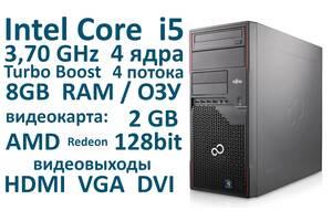 CPU: 3.7GHz 4 ядра 4 потоку 8 Гб оперативної пам'яті Системний блок Fujitsu