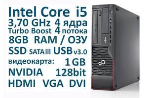 Cистемный блок 8 ГБ ОЗУ, Intel Core i5 4 ядра 3,70 GHz, SSD