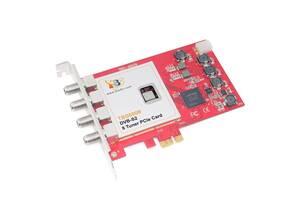 DVB карта TBS6909 DVB-S2 8 Tuner PCIe Card