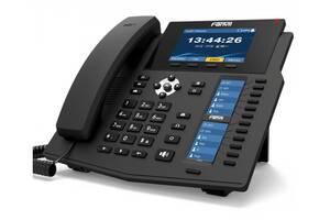 Fanvil X6U, sip телефон премиум класса, 20 SIP-аккаунтов, RJ9, USB, PoE (запись телефонных разговоров)
