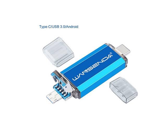 продам Флешка 3в1 USB 3.0  OTG  USB/ microUSB/ type C  32GB  для  Android, Windows, ПК  бу в Сумах