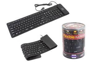 Гибкая резиновая клавиатура Flexible Keyboard от USB