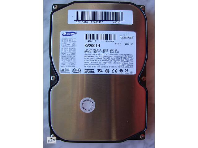 бу HDD IDE, жесткий диск, винчестер 20 Гб Gb 3,5'' Samsung SV2001H в Киеве