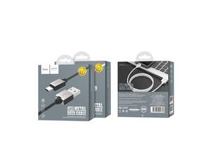 Кабель USB-Type-C Hoco U49 Refined Steel 1.2m Black,White