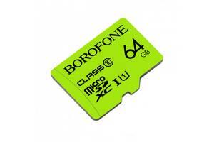 Карта пам'яті MicroSD Borofone 64GB Class 10 Original