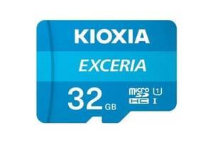 Карта памяти Kioxia Exceria microSDHC 32GB Class 10 UHS I + ad (Код товара:16273)