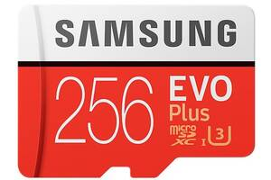 Карта памяти на 256 GB Samsung EVO Plus microSD C10 UHS-I%5b%5d SmsngMB-MC256GA/RU