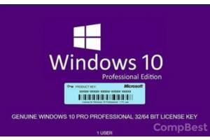 Ключ активації Windows 10 Pro | БЕЗСТРОКОВА гарантія | Онлайн-оплата частинами | Доставка до 60 хв. | опт