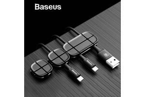 Комплект кабельных органайзеров Baseus Black, 3 штуки