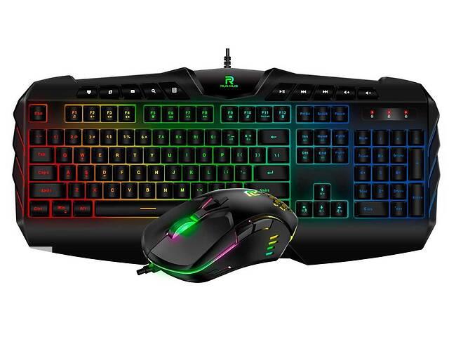 продам Комплект проводная игровая клавиатура и мышь Gaming Run Mus G20 CW902 с RGB подсветкой Черный (gr_016895) бу в Киеве