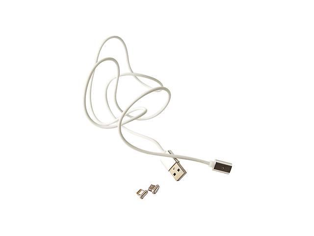 купить бу Магнитный кабель для зарядки смартфона/телефона USB MAGNETIC Cable LP 8-pin micro USB 1.2 м Белый в Харькове