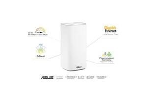 Маршрутизатор ASUS ZenWiFi mini CD6 1PK AC1500 3xGE LAN 1xGE WAN MESH (CD6-1PK)
