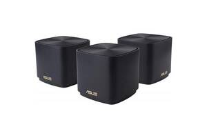 Маршрутизатор ASUS ZenWiFi XD4 3PK black AX1800 1xGE LAN 1x1GE WAN WPA3 OFDMA M (XD4-3PK-BLACK)