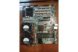 Материнка серверная Tyan Tempest i5000XL (S2692ANR) + 2шт. Xeon 5140 2.33ГГц + 2Кулера