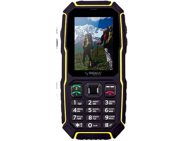 купить бу Мобильный телефон Sigma mobile X-treme ST68 Black/Yellow в Києві