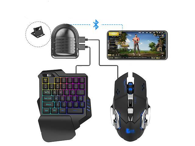 Мобильный игровой Bluetooth адаптер с аккумулятором и подставкой, игровой клавиатурой и мышкой Union Sundy PUBG Mobil...- объявление о продаже  в Одессе