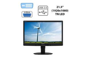 "Монитор Philips 221B3L / 21.5"" (1920x1080) TN LED / DVI-D, VGA, USB-Hub, Audio Port Combo / встроенные колонки 2x 1.5W"