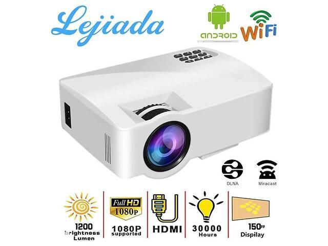 бу Мультимедийный FullHD Проектор LEJIADA A8WiFi,  LED-проектор 1200 люменой, Android 6.0 в Одесі