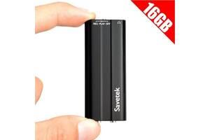 Мини диктофон Savetek 600 16 ГБ Черный (100543)